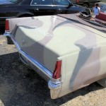 left rear view (broken tail light) of 1969 Cadillac Convertible DeVille