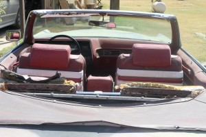 interior rear view of 1969 Cadillac Convertible DeVille