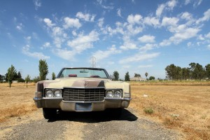 front grill view of 1969 Cadillac Convertible DeVille