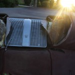 rear chrome speaker in the backseat center of 1969 Cadillac Convertible DeVille
