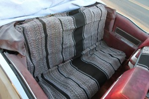 back seat seatcovers on the 1969 Cadillac DeVille Convertible