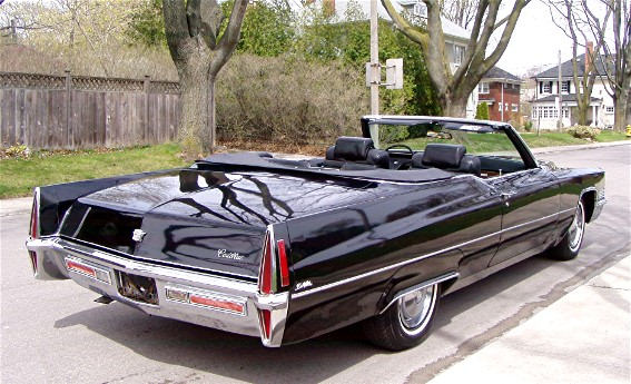 Black on Black 1969 Cadillac Convertible DeVille