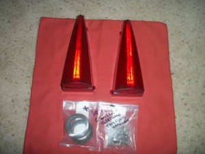 Rear tail light covers for the 1969 Cadillac Convertible Deville