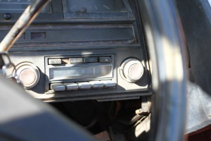 original stereo (before) on my 1969 Cadillac DeVille Convertible