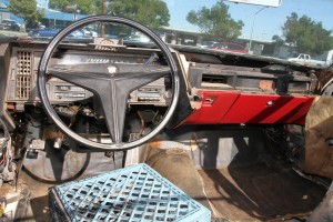 Interior dashboard removed  on my 1969 Cadillac DeVille Convertible