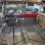 interior view after floor board reinforced on my 1969 Cadillac DeVille Convertible