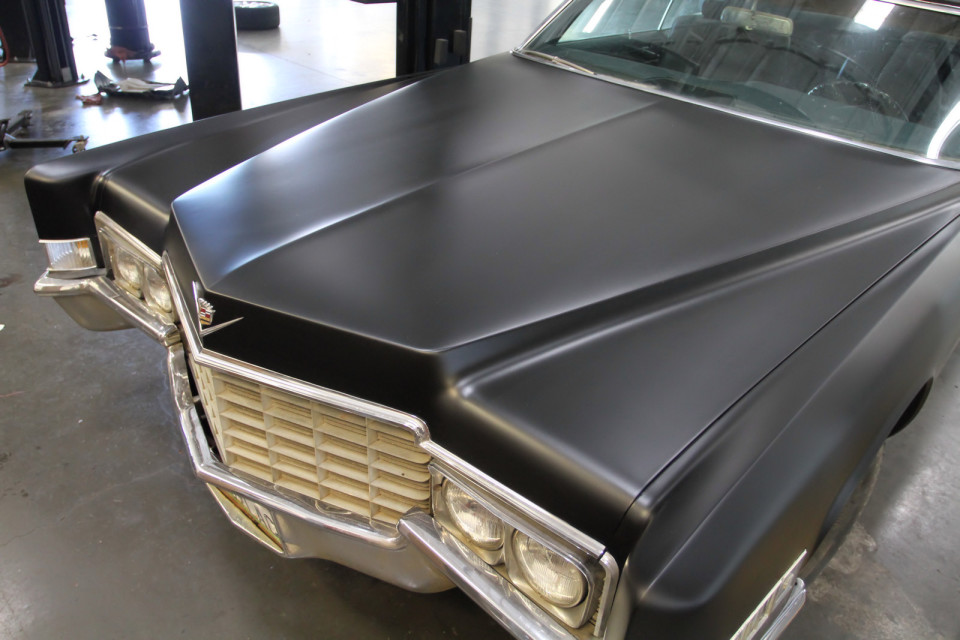 Murdered Out Matte Black 1969 Cadillac Convertible DeVille